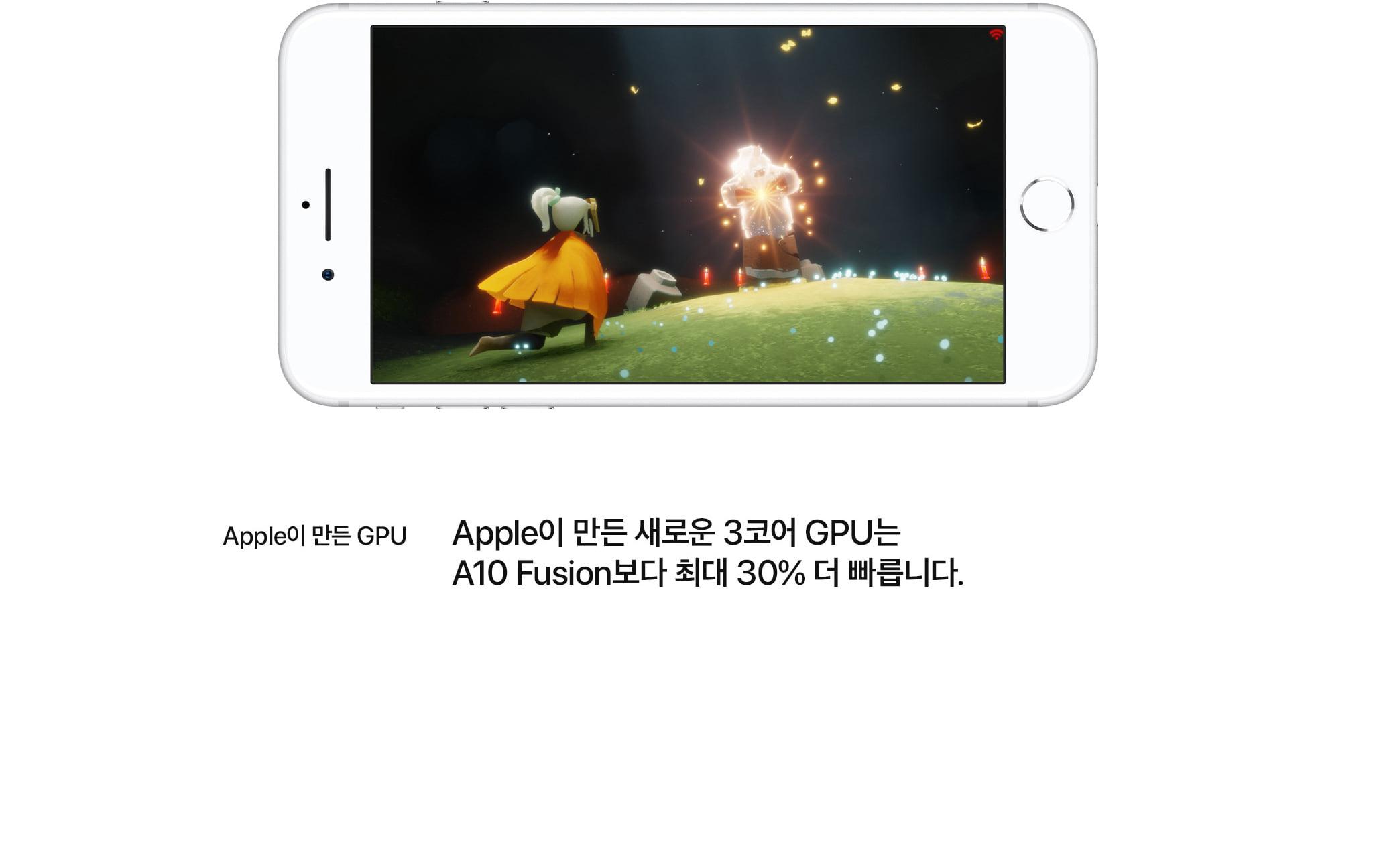 apple이 만든 gpu apple이 만든 새로운 3코어 gpu는 a10 fusion보다 최대 30% 더 빠릅니다.